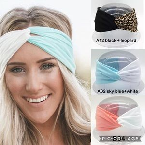 Accessories - Head band boho    Two color blue white